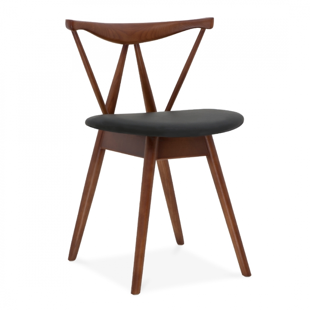 cult living kite brown wood chair dining chairs cult