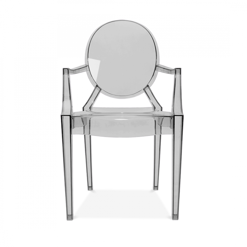 Ghost Louis Ghost Armchair   Black Transparent