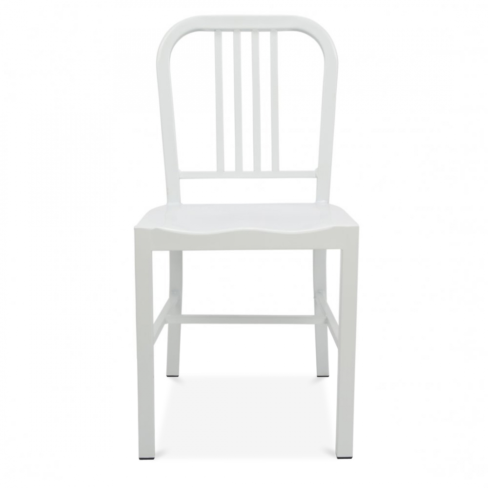Dining Chair Clearance: White Metal Dining Chair