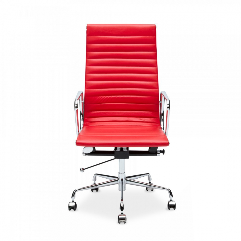 eames style red ribbed office chair executive chairs cult uk