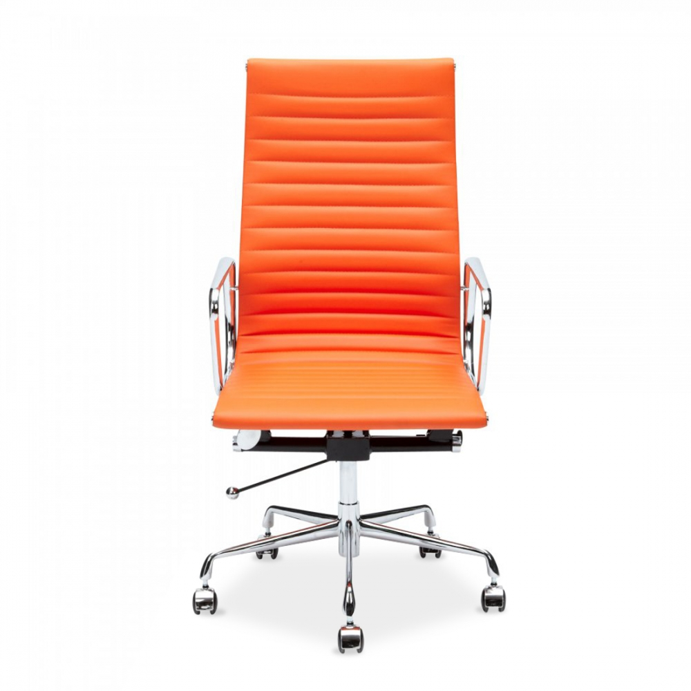 clearance office chair. iconic designs orange ribbed office chair - clearance sale s