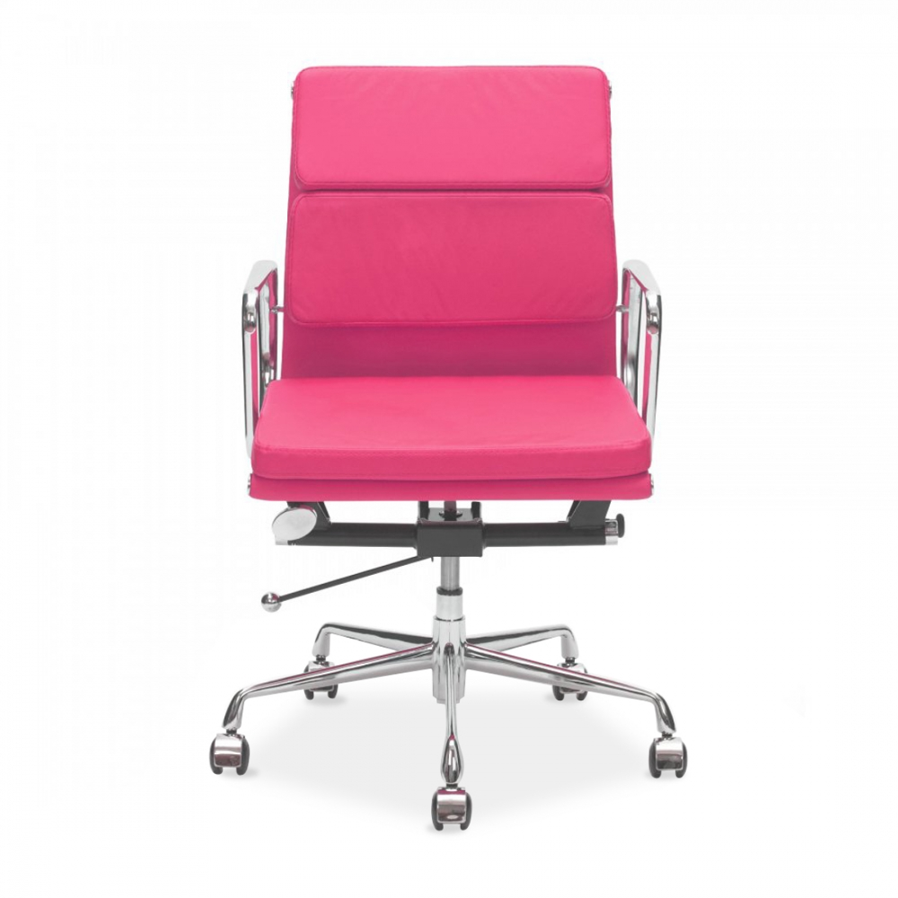 Captivating Iconic Designs Pink Short Back Soft Pad Executive Office Chair   Clearance  Sale