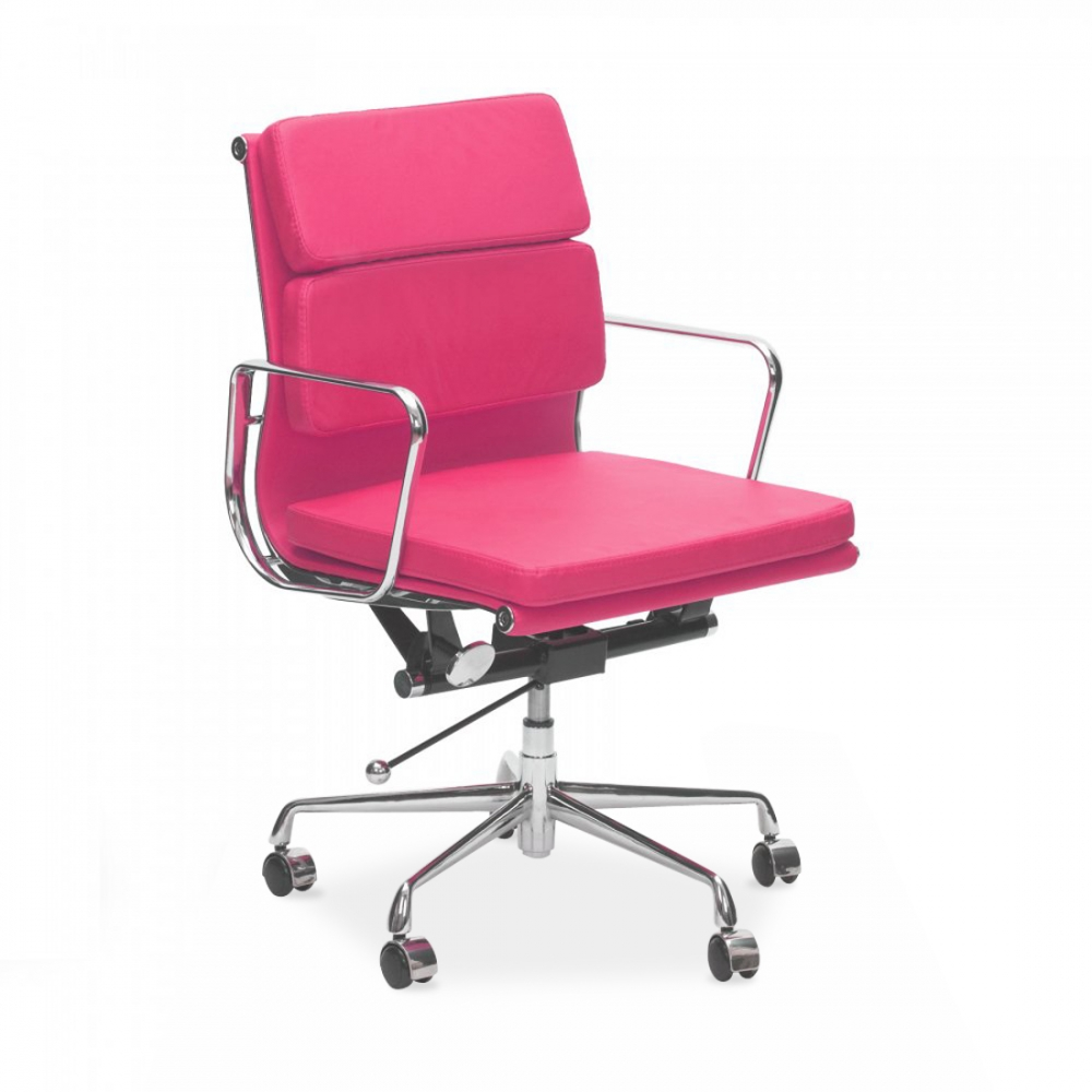 Iconic Designs Pink Short Back Soft Pad Executive Office Chair