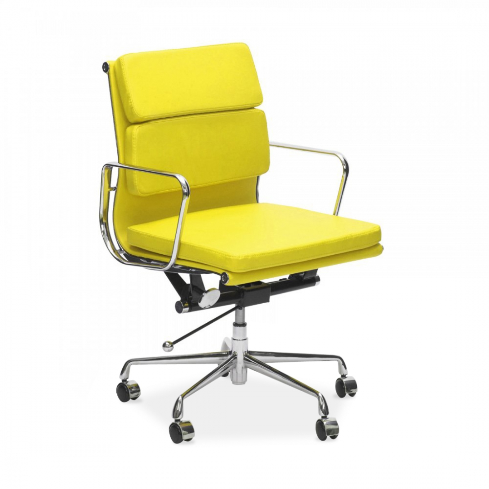 Iconic Designs Short Back Soft Pad Executive Office Chair Yellow