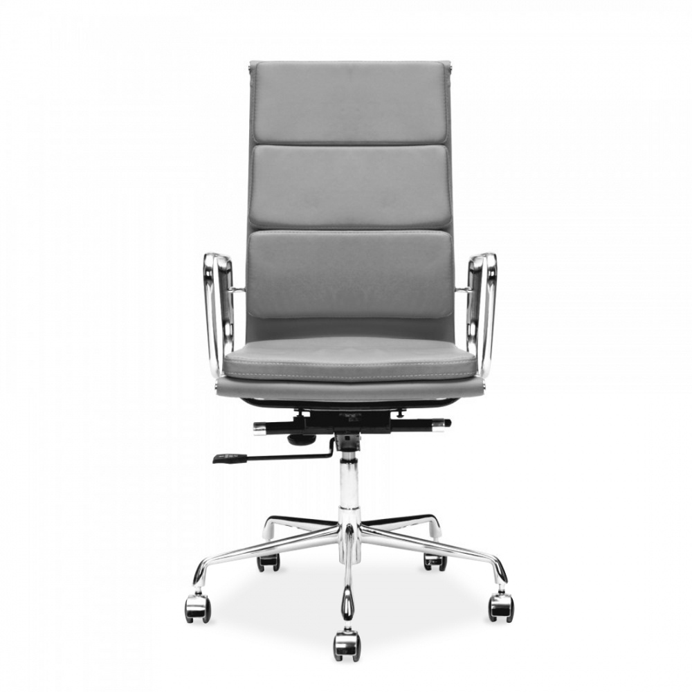 Grey Soft Pad Style Executive Office Chair Cult UK - Grey office chair