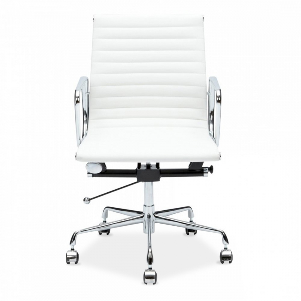 Eames Style White Ribbed Short Back Chair  Office Chairs  Cult UK