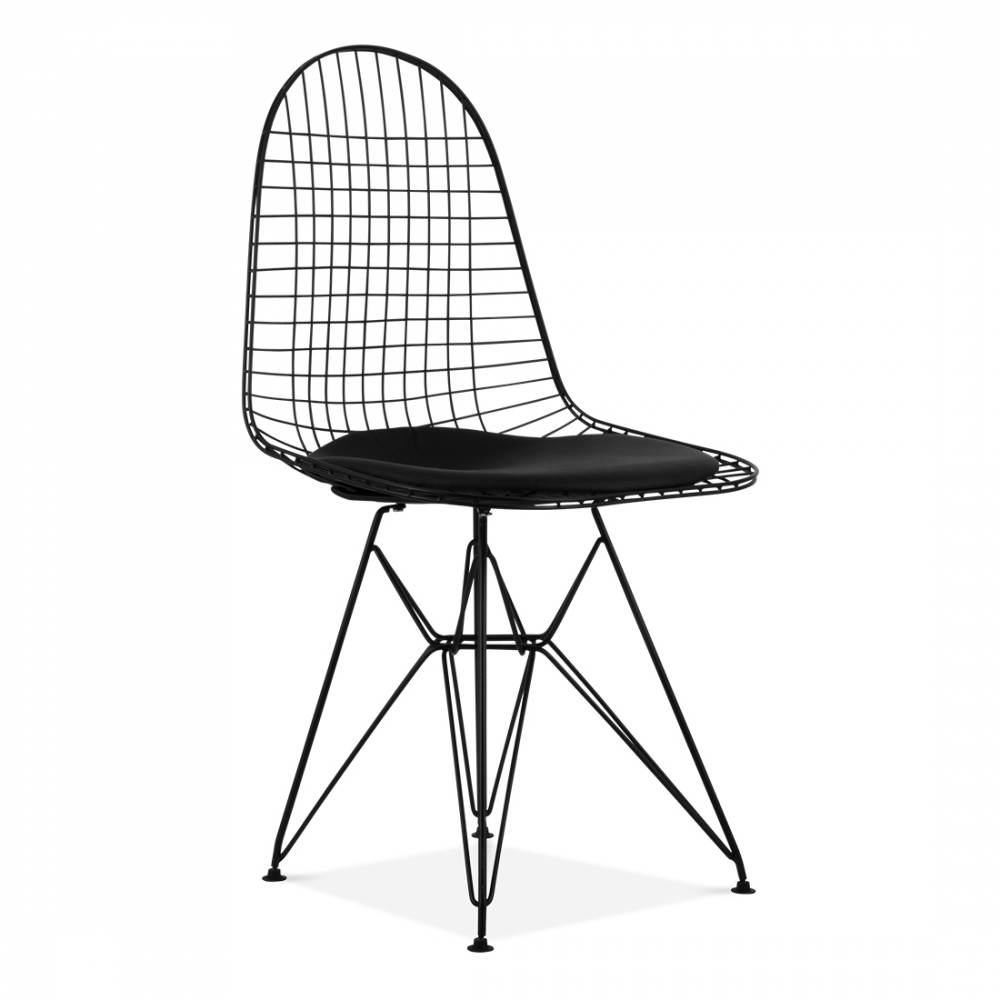 Eames dkr wire chair cafe dining chairs cult for Chaise fauteuil eames