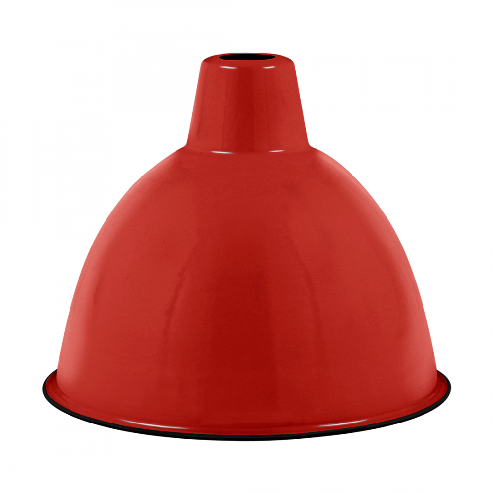 Enamel Dome Lampshade E27 In Red Ceiling Pendant Lamps