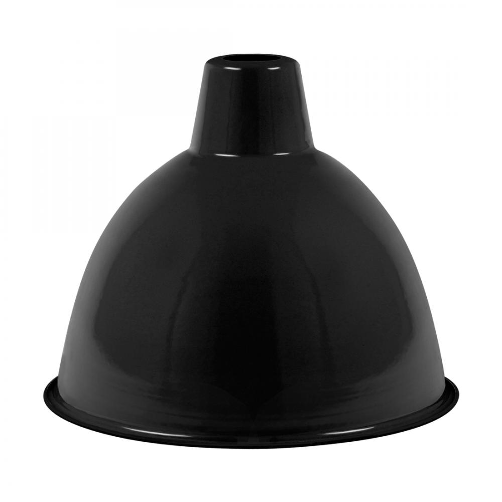 Enamel Dome Industrial Lamp Shade Black Shade Cult