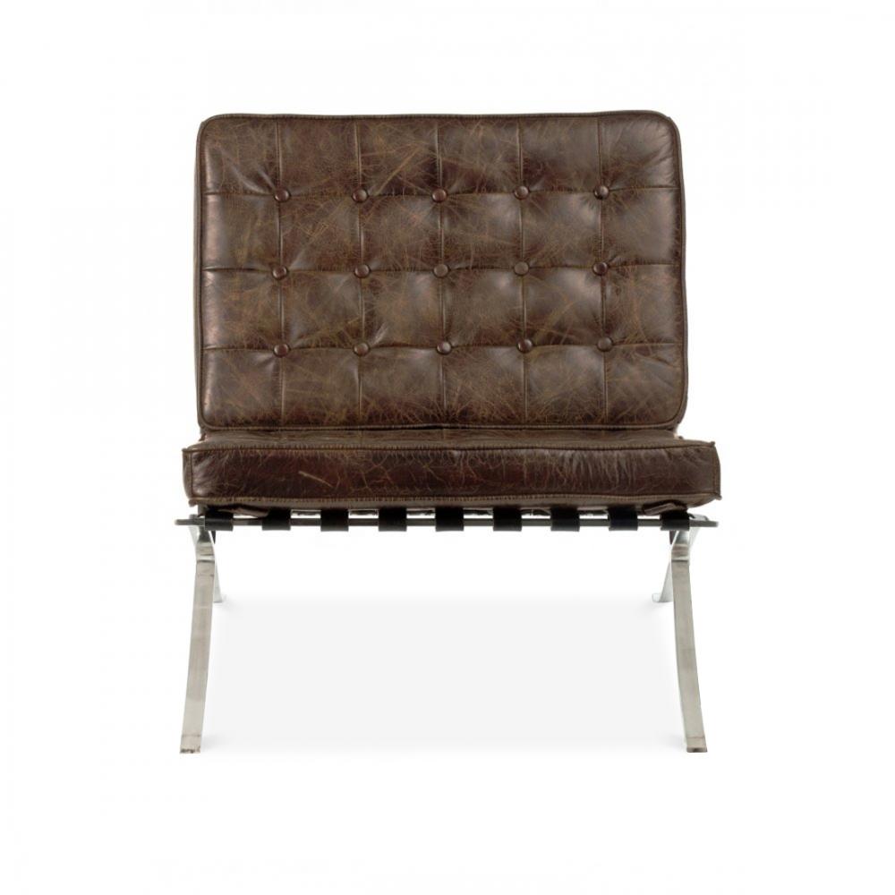style vintage brown barcelona chair cult uk. Black Bedroom Furniture Sets. Home Design Ideas