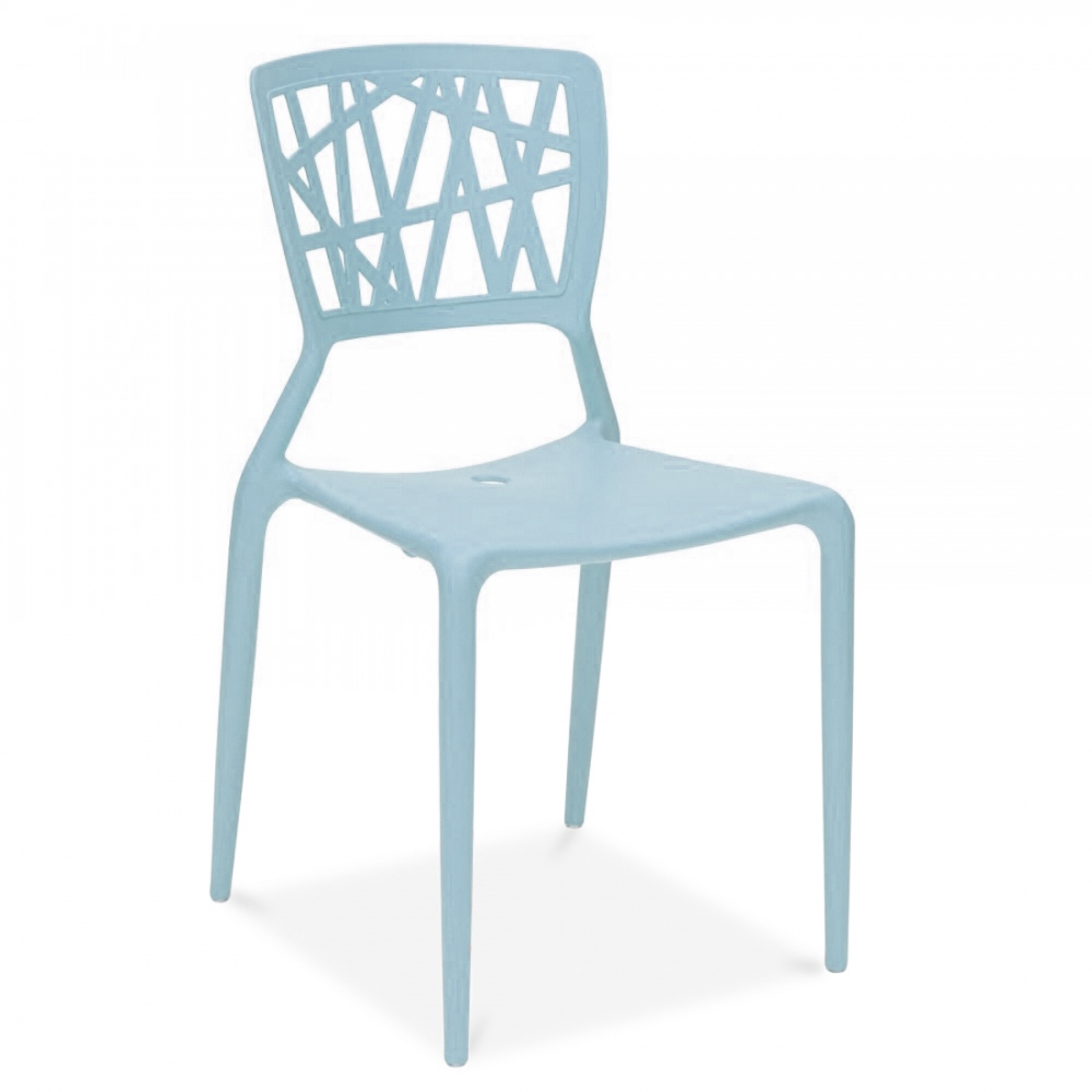 Light blue dining chairs - Claudio Dondoli Viento Style Dining Chair Pastel Blue