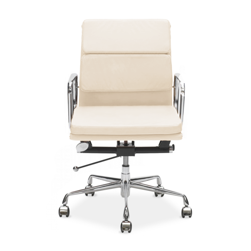 Iconic Designs Style Cream Short Back Soft Pad Executive Office Chair