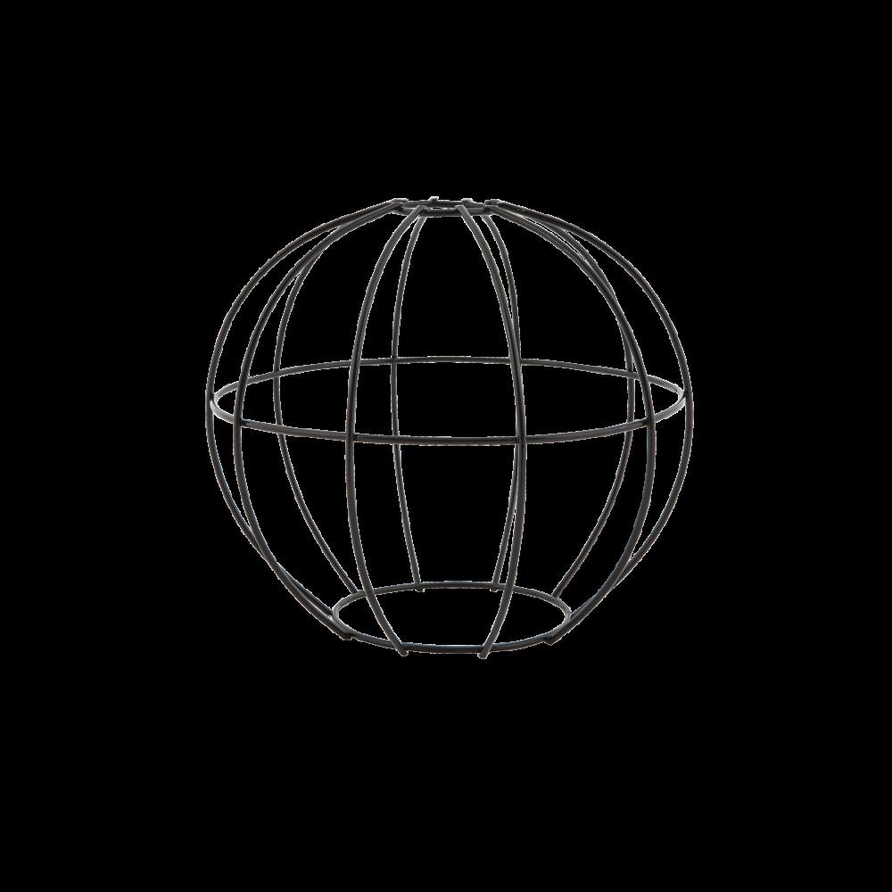 round wire cage light