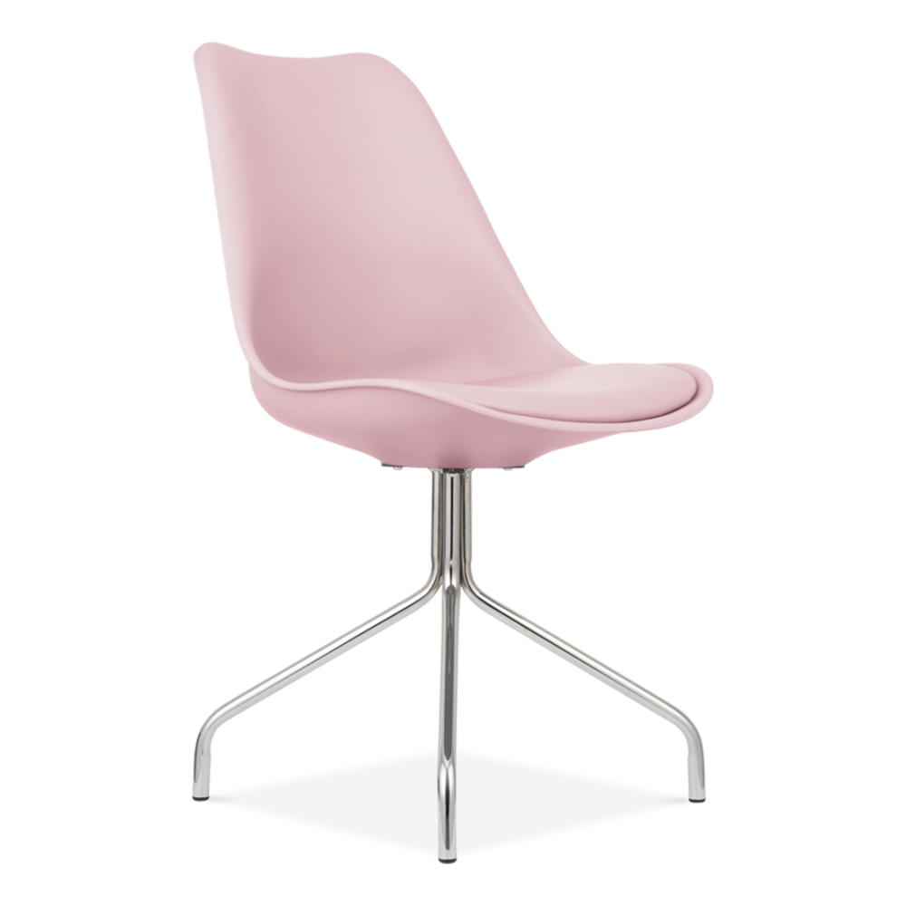 pastel pink style dining chair with metal legs cult