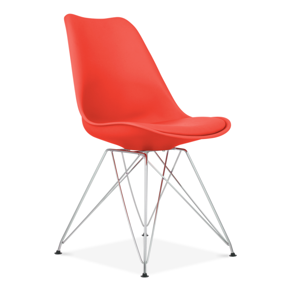 Red Dining Chair with Eiffel Metal Legs  Restaurant Chairs  Cult UK