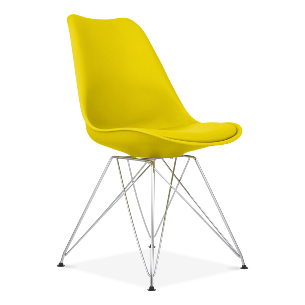 Yellow Eames Dining Chair With Eiffel Metal Legs Cult