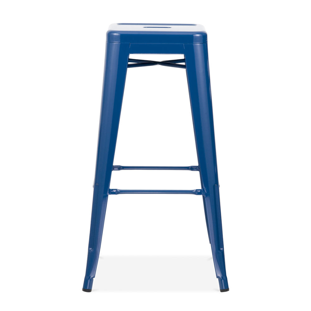 blue powder coated 75cm tolix style industrial stool cult furniture. Black Bedroom Furniture Sets. Home Design Ideas