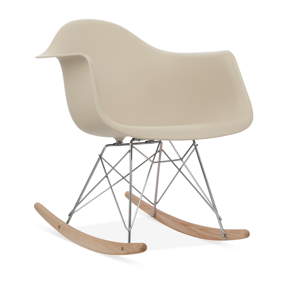 eames style rar beige rocking chair wooden rockers cult uk. Black Bedroom Furniture Sets. Home Design Ideas