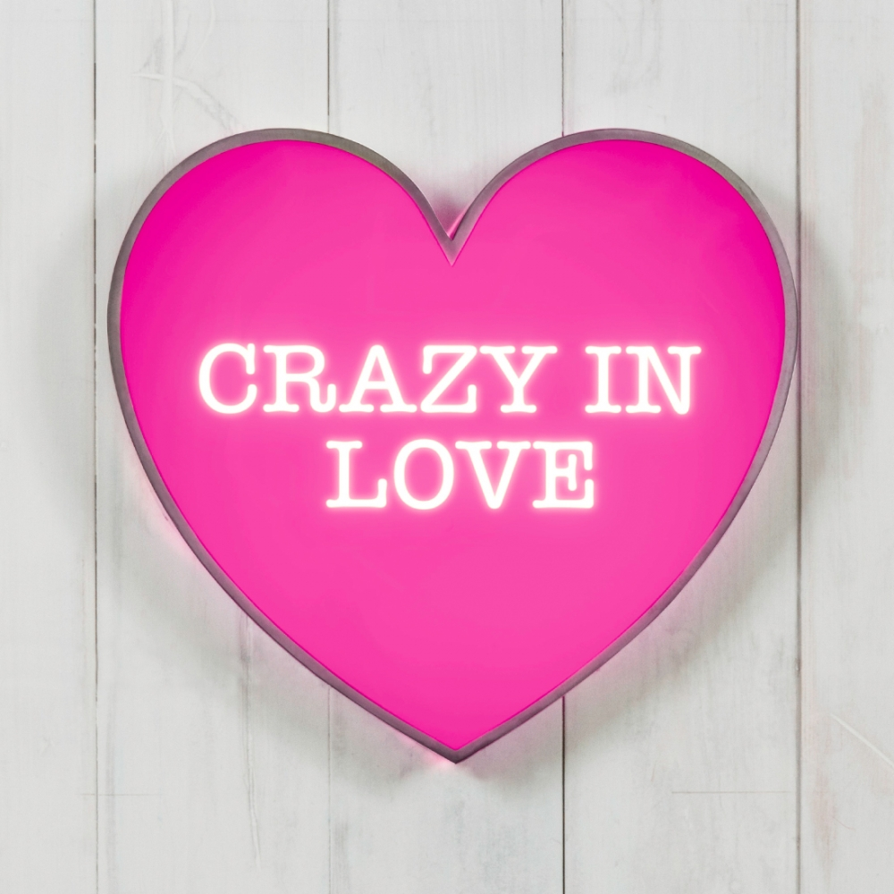 Heart Lightbox Crazy In Love Modern Lighting Amp Led Lights