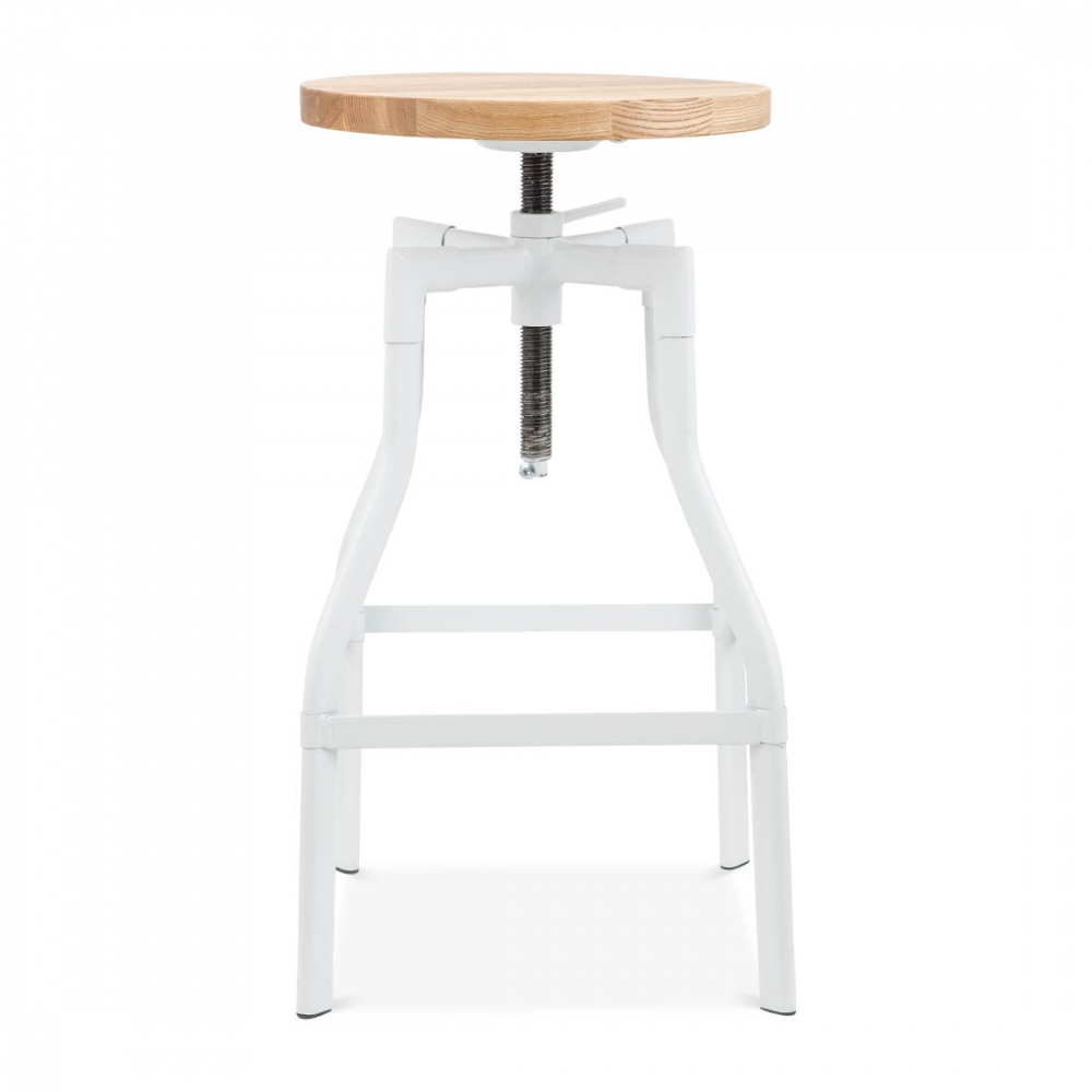 Industrial Swivel Stool   White 65cm. U2039