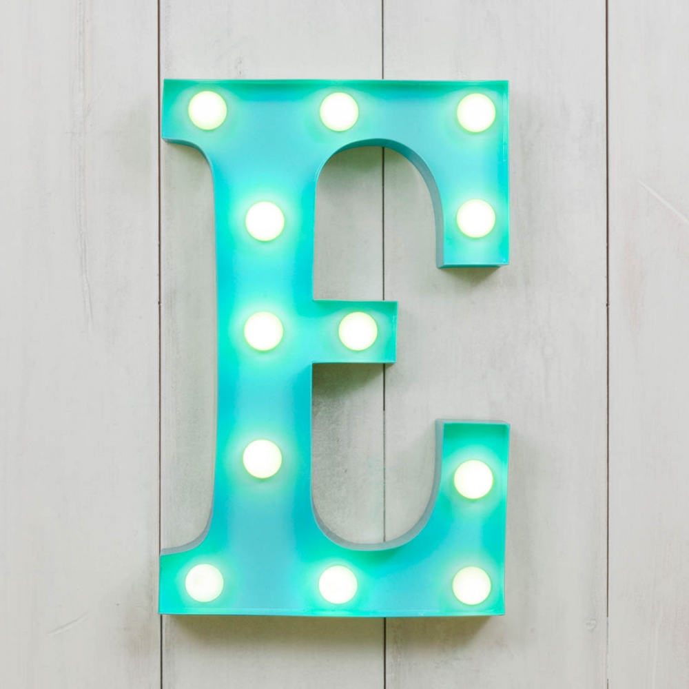 E Vegas Metal 11 Mini LED Letter Lights Marquee Letters