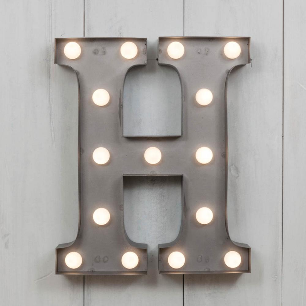 H Vegas Metal 11 Mini LED Letter Lights  Marquee Letters  Cult UK