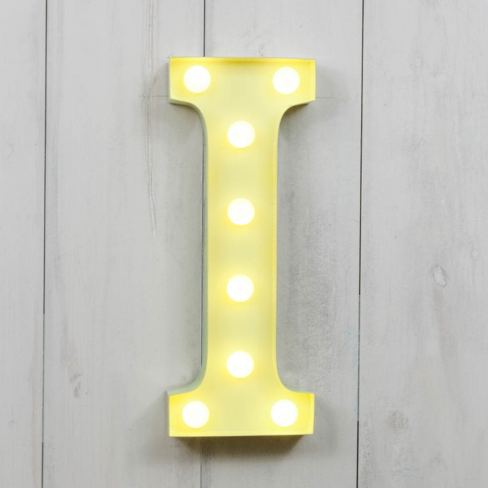 I Vegas Metal 11 Mini LED Letter Lights Light Up