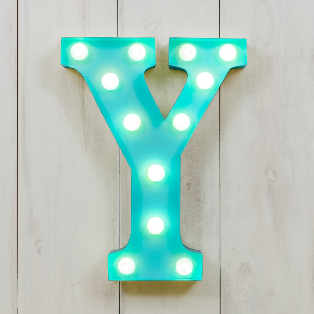 Y Vegas Metal 11 Mini LED Letter Lights Light Up