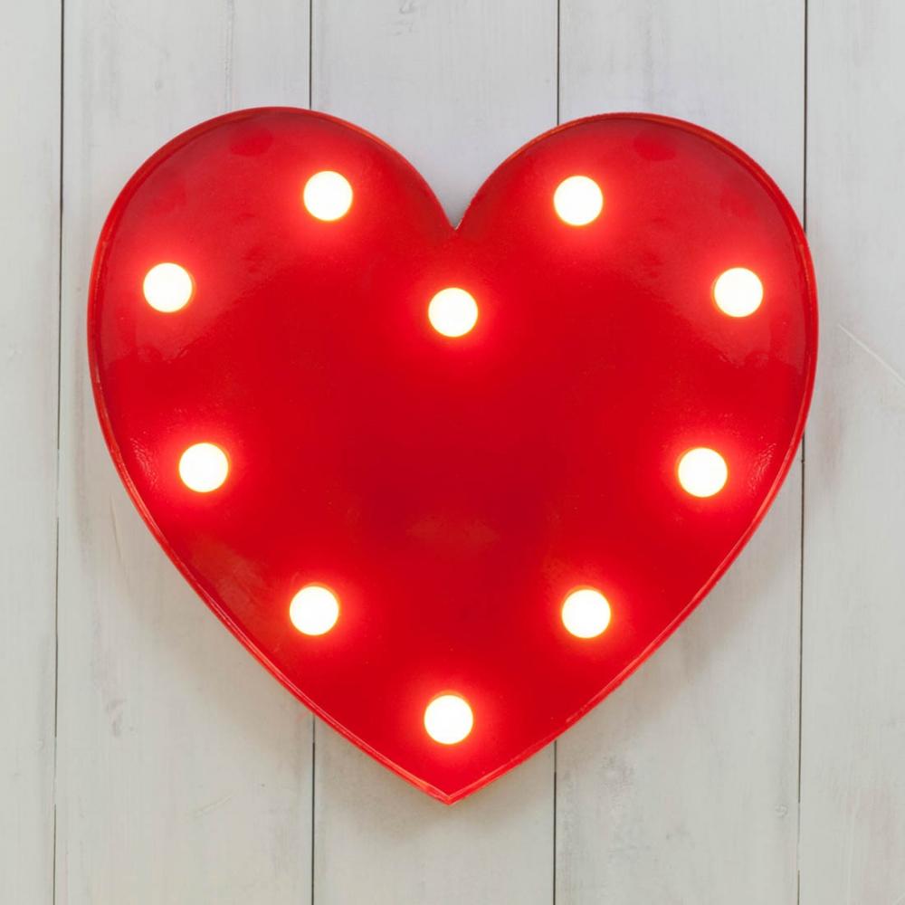 Vegas Metal Led Heart Circus Light Industrial Lighting