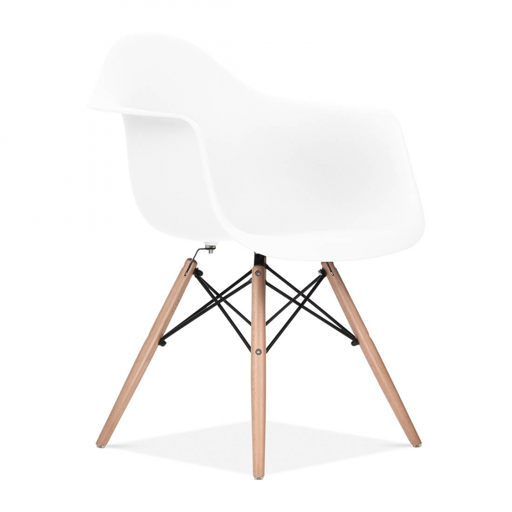charles eames style white daw chair  side  cafe chairs  cult uk - iconic designs white daw style chair ‹