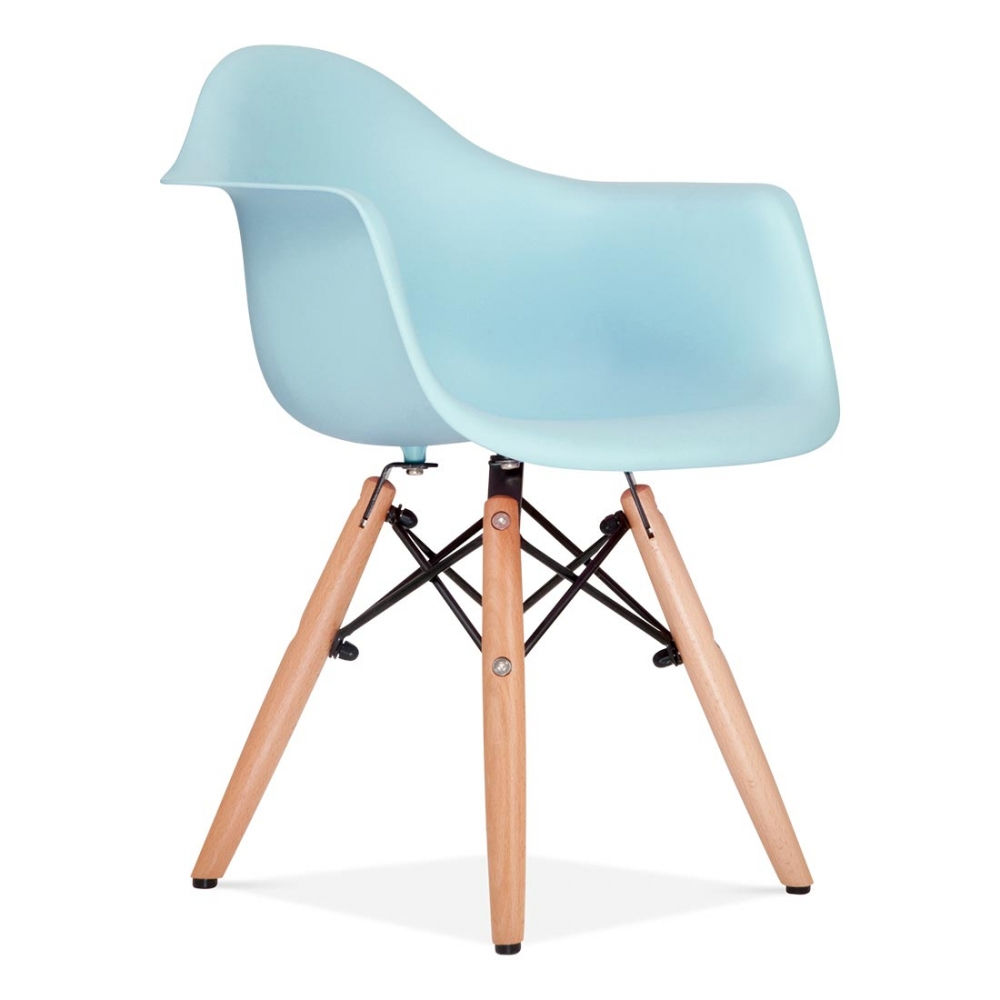 Eames inspired kids light blue daw chair kids chairs for Design furniture replica uk blue