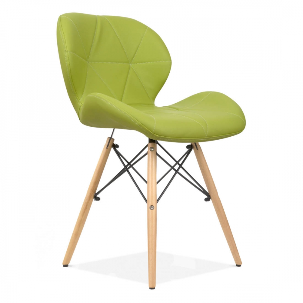 Eames inspired upholstered green butterfly dining chair for Inspiration eames