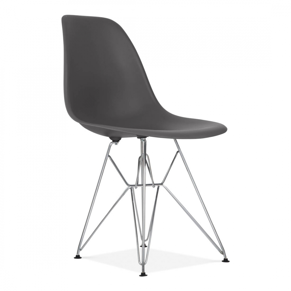 eames style grey dsr eiffel chair bar cafe side chairs. Black Bedroom Furniture Sets. Home Design Ideas