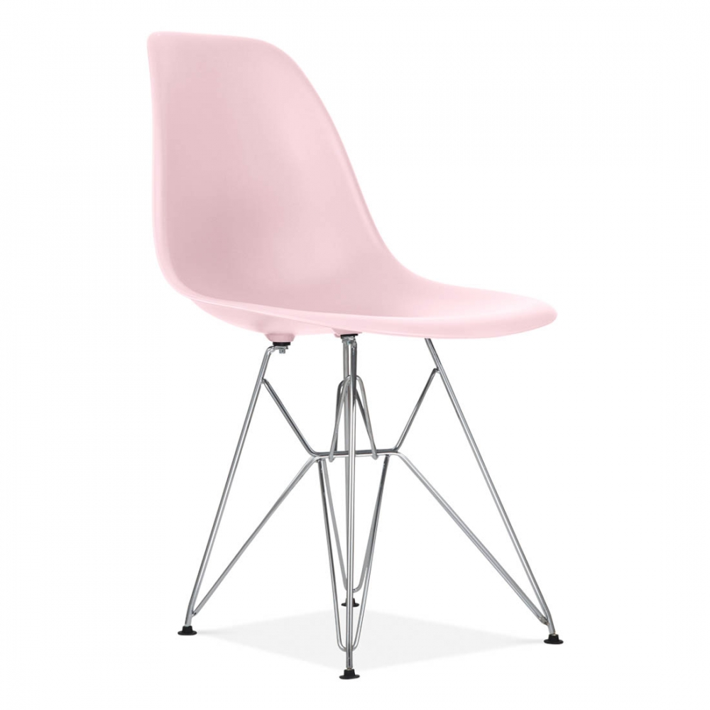 Eames Style DSR Eiffel Chair Pastel Pink | Dining Chairs | Cult UK