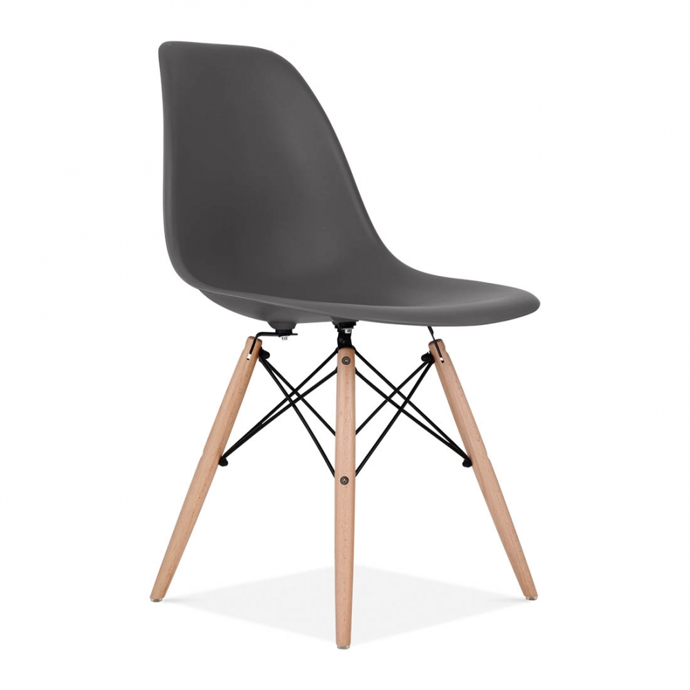 Eames style dark grey dsw chair bar cafe side chairs for Chaise dsw eames