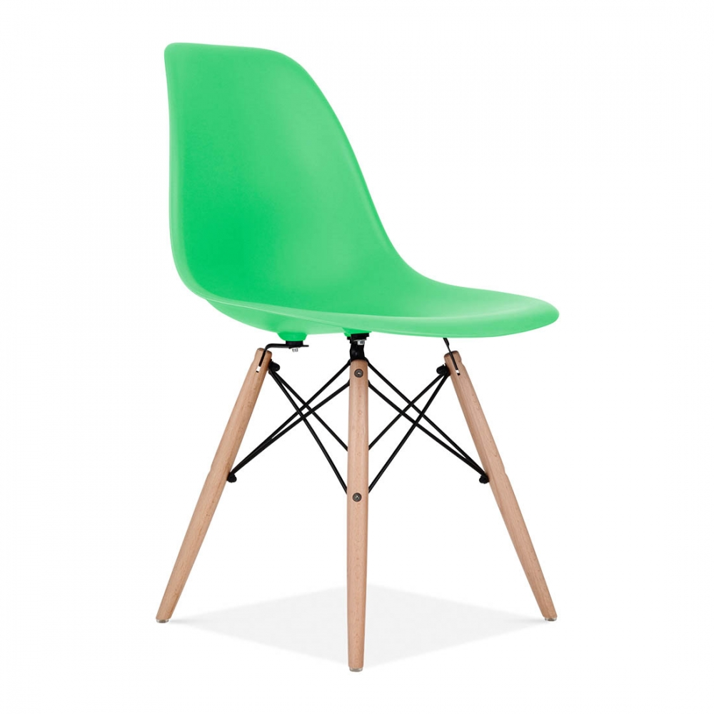 Iconic Designs Bright Green DSW Style Chair   Eames Style Bright Green DSW Chair   Cafe   Dining Chairs   Cult UK. Eames Dsw Chair Green. Home Design Ideas