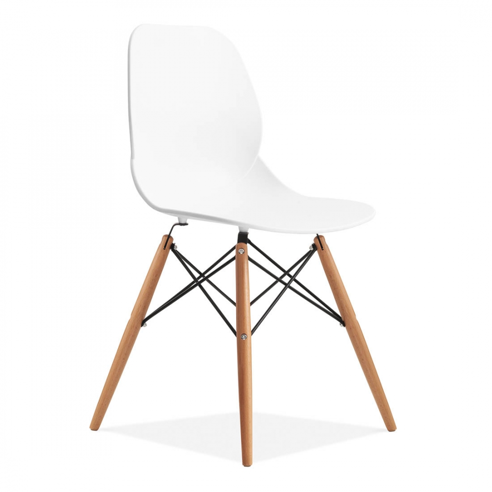 Contemporary eames inspired eiffel chair in white cult for Chaise sejour contemporaine