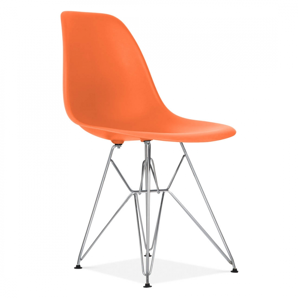 orange eames style dsr eiffel chair | side & cafe chairs | cult uk