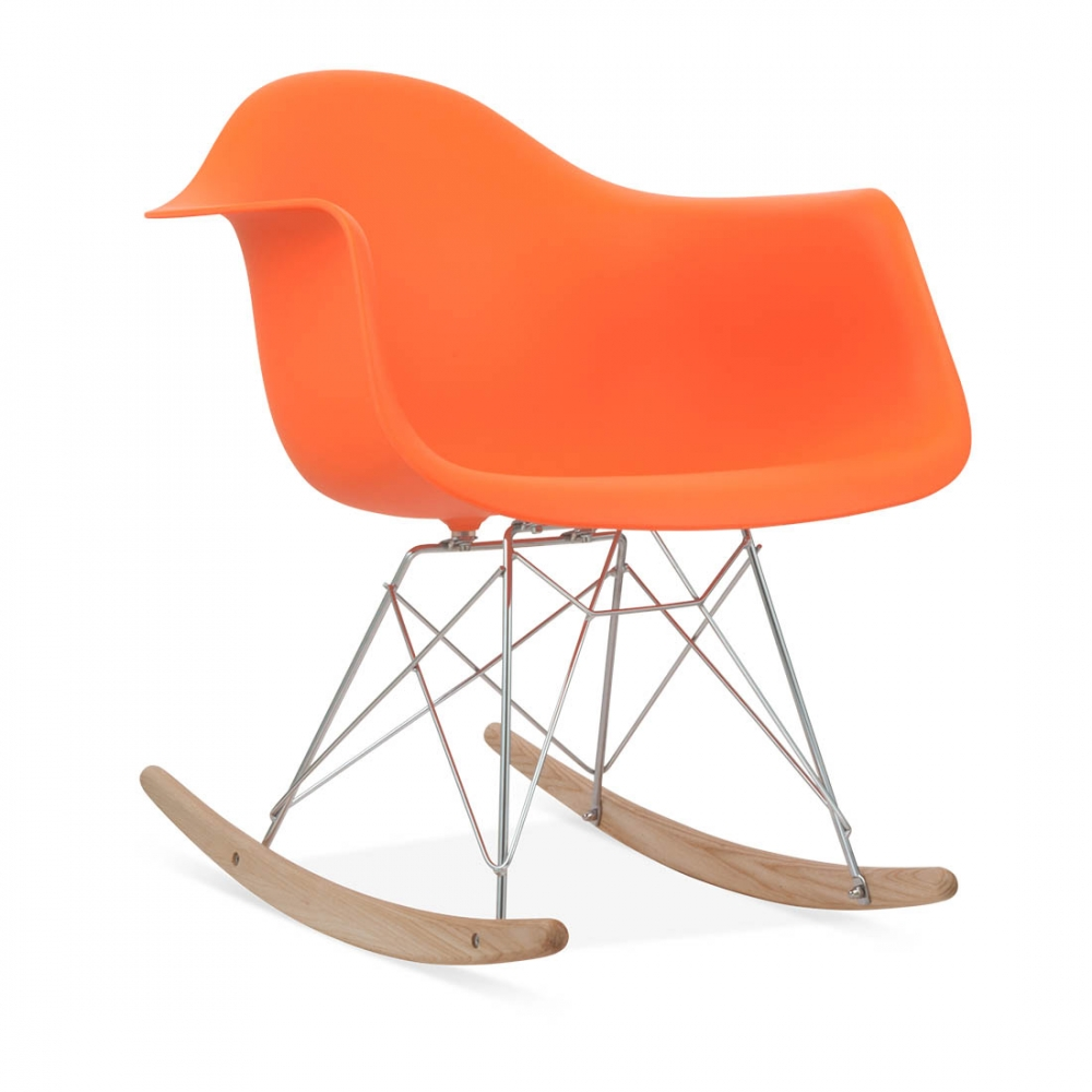 Orange eames style rar rocker chair rocking chairs cult uk - Eams rocking chair ...