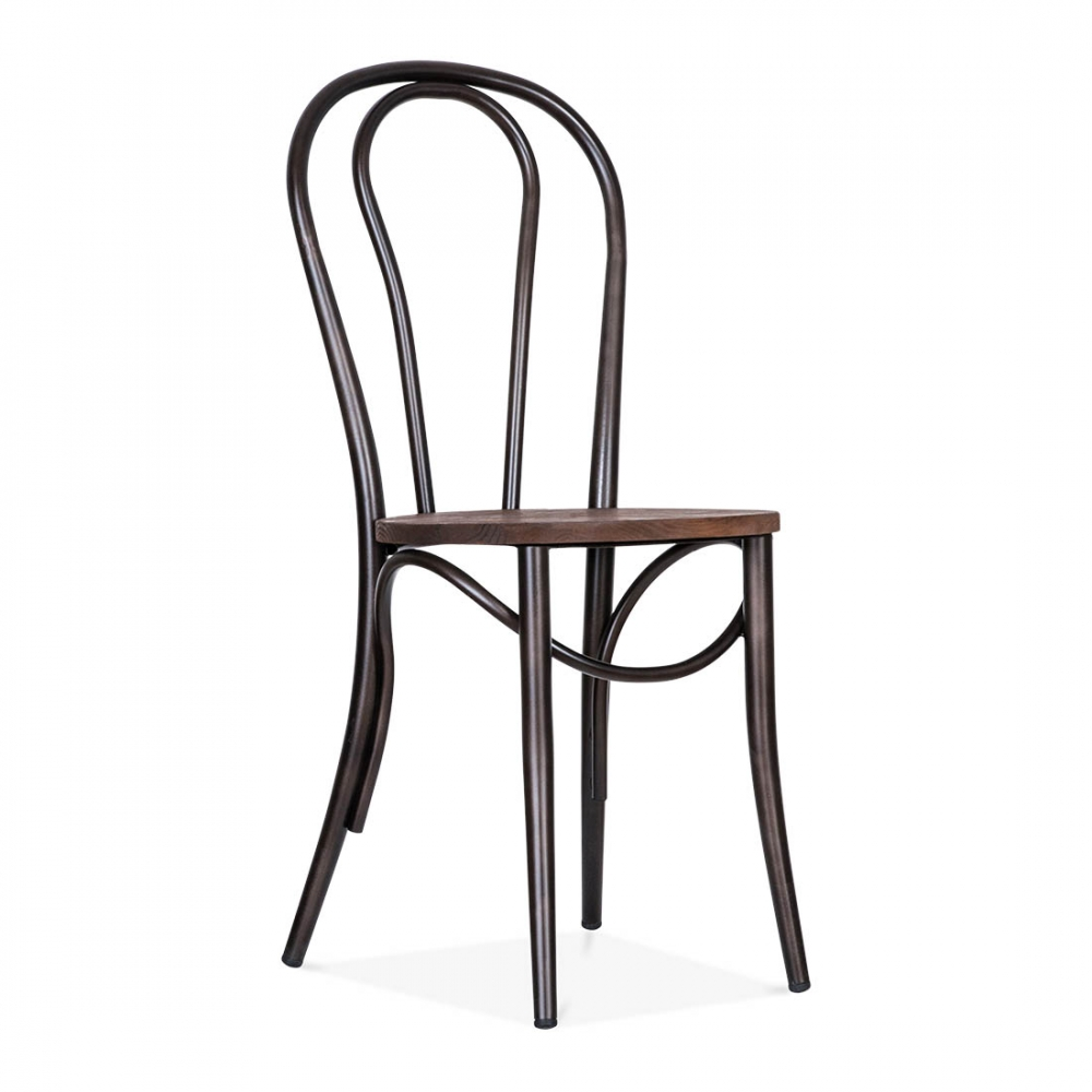 Good Metal Bistro Chair With Wood Seat Raw Finish With Metal Bistro Chairs