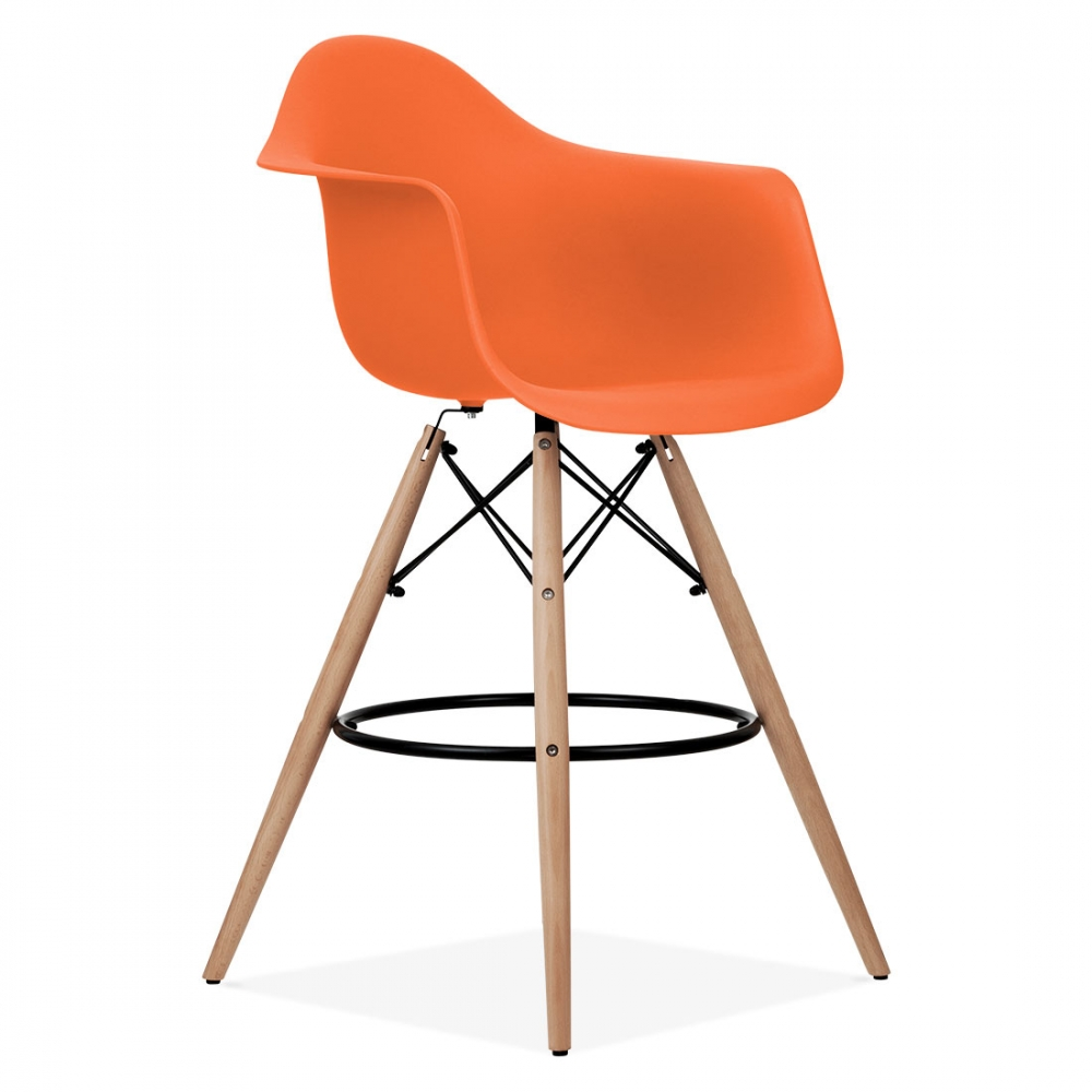 Orange Eames Style Daw Stool Kitchen Amp Bar Stools Cult Uk