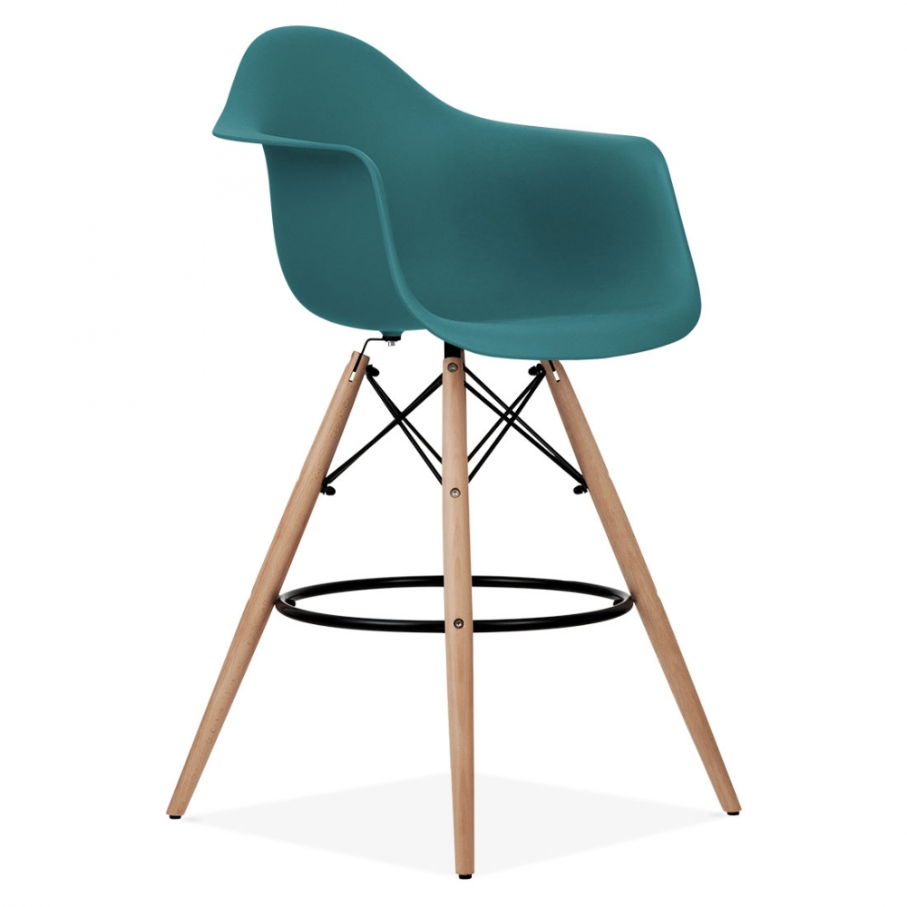 teal eames style daw stool kitchen bar stools cult furniture uk. Black Bedroom Furniture Sets. Home Design Ideas