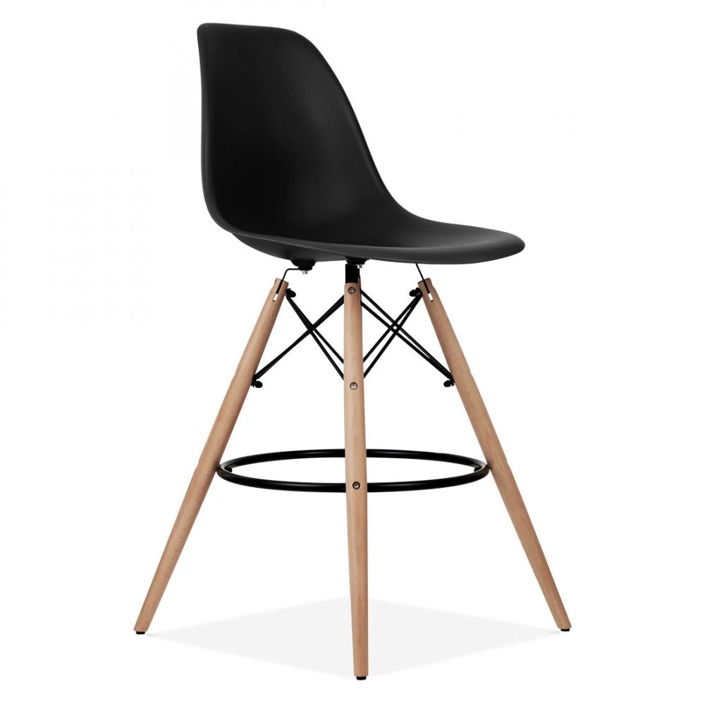 Charles eames black dsw stool kitchen bar stools cult uk for Design eames