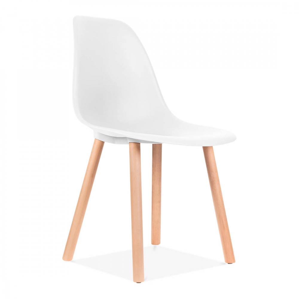 Charles eames inspired copenhagen white dining chair cult uk for Chaise de salle a manger tournante