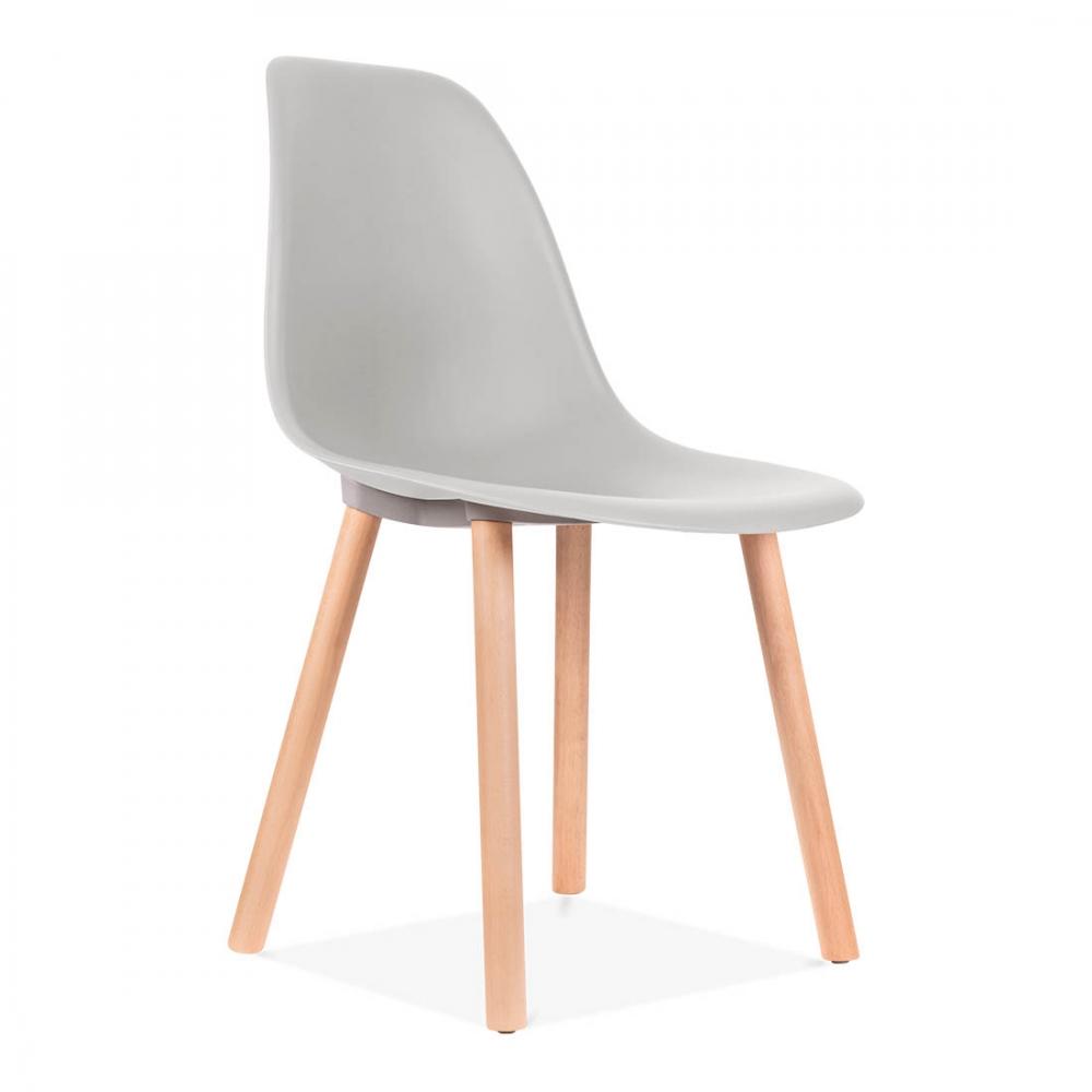Eames Inspired Copenhagen Dining Chair   Light Grey