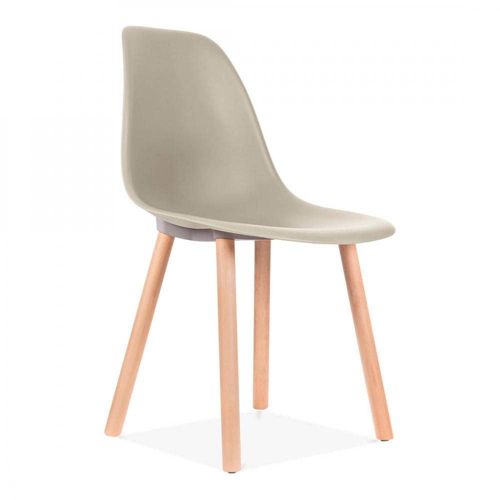 Eames inspired beige copenhagen modern dining chair cult for Inspiration eames