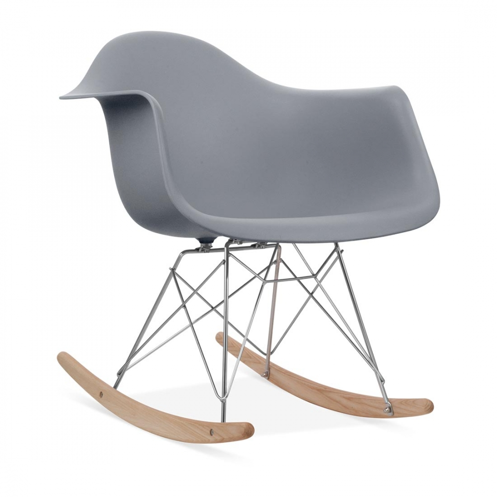 eames style grey rar rocker chair wood rocking chairs. Black Bedroom Furniture Sets. Home Design Ideas