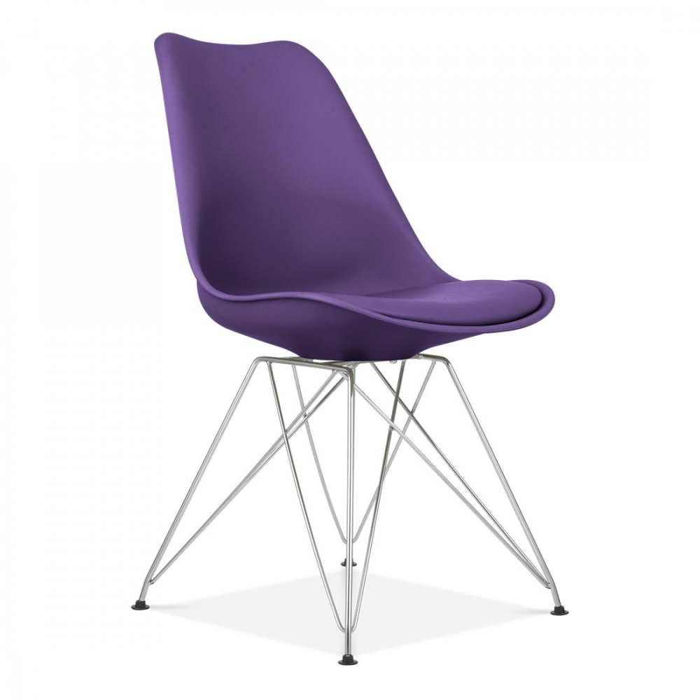 Purple eames style eiffel chair cafe dining chairs for Eiffel chair de charles eames