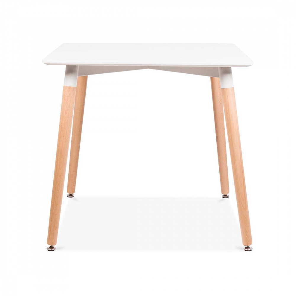 70cm modern cafe chairs and tables view modern cafe chairs and tables - Cult Living Edelweiss Table Square White