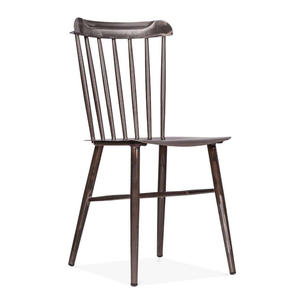Cult Living Metal Windsor Chair in Raw Metal  Modern ...